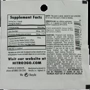 maximum diet packet backside